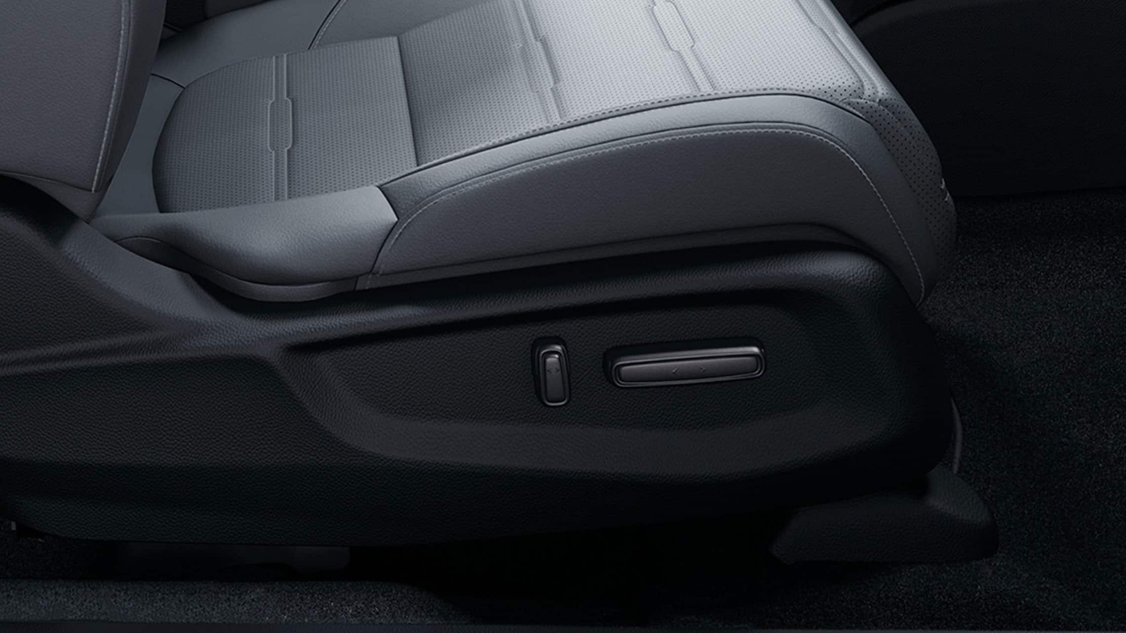 Detalle del asiento del pasajero delantero con ajuste eléctrico en la Honda CR-V2021.