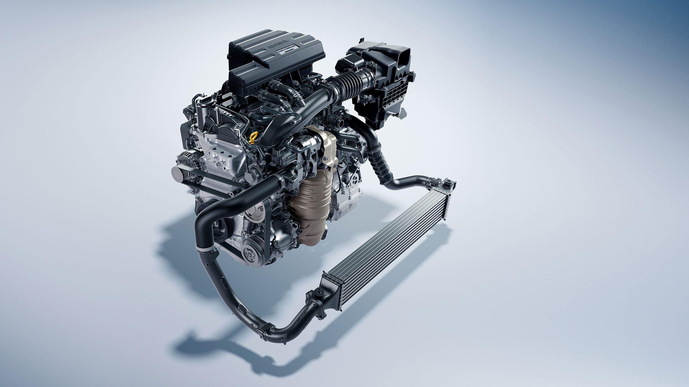 Detalle del motor turboalimentado de 1.5litros en la Honda CR-V2021.