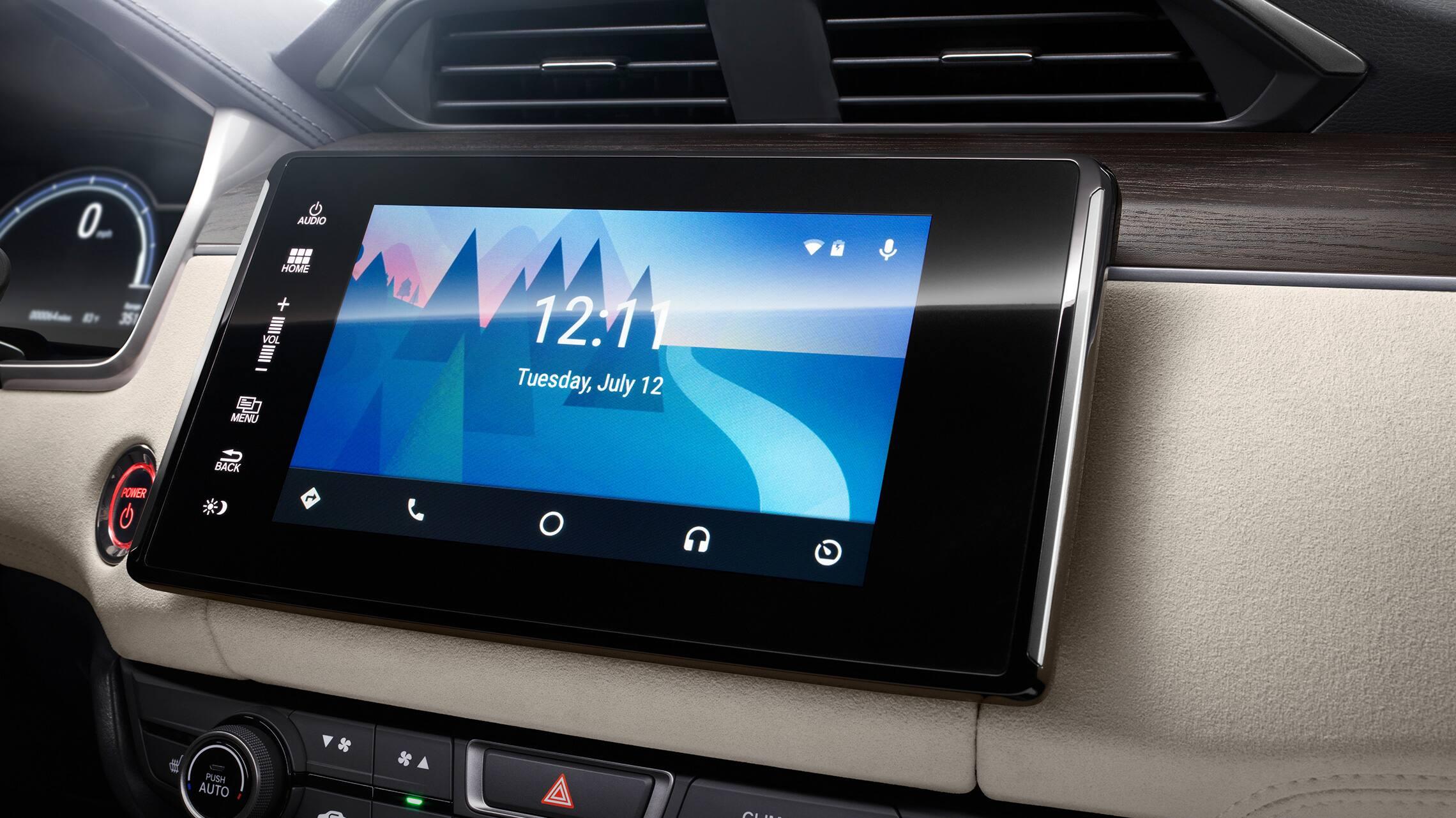 Integración con Android Auto™ en el sistema de audio en pantalla táctil de la Honda Ridgeline2021.